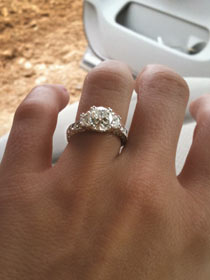 first look miranda lamberts engagement ring sounds