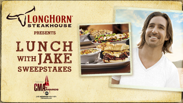 Nashville Sweepstakes 2011 LongHorn Steakhouse Launches 'Lunch with Jake' Sweepstakes