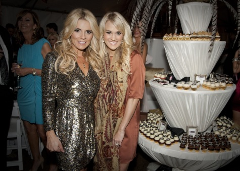 Carrie Underwood, Rascal Flatts, & Others Attend Salon Opening in Nashville