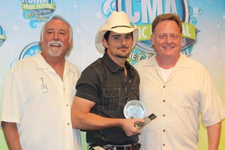 Brad Paisley Surprised with CMA International Artist Achievement Award at CMA Music Festival