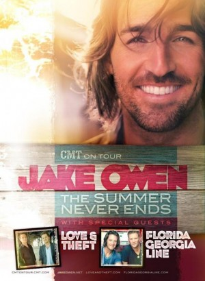 'CMT On Tour Jake Owen: The Summer Never Ends 2012′ Dates Revealed