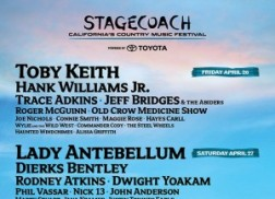 Toby Keith, Lady Antebellum and Zac Brown Band to Headline 2013 Stagecoach Festival
