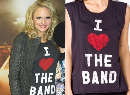 Get The Look: Miranda Lambert's 'I Heart The Band' Tee
