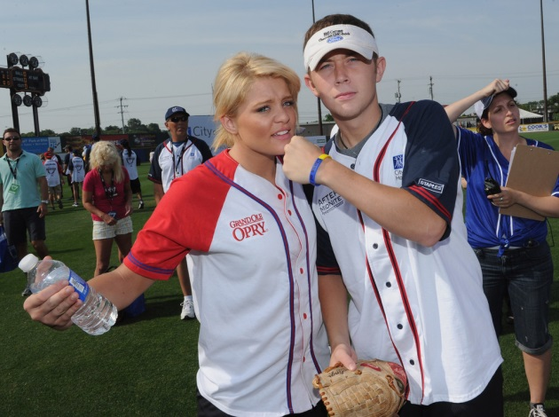 Lauren Alaina and Scotty McCreery - CountryMusicIsLove - COH Softball Game
