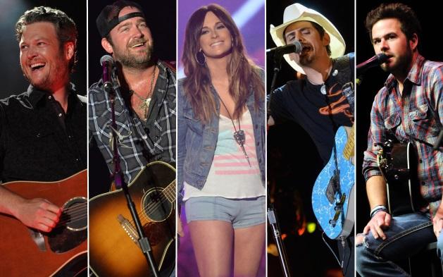 Blake Shelton, Lee brice, Kacey Musgraves, Brad Paisley, David Nail - CountryMusicIsLove