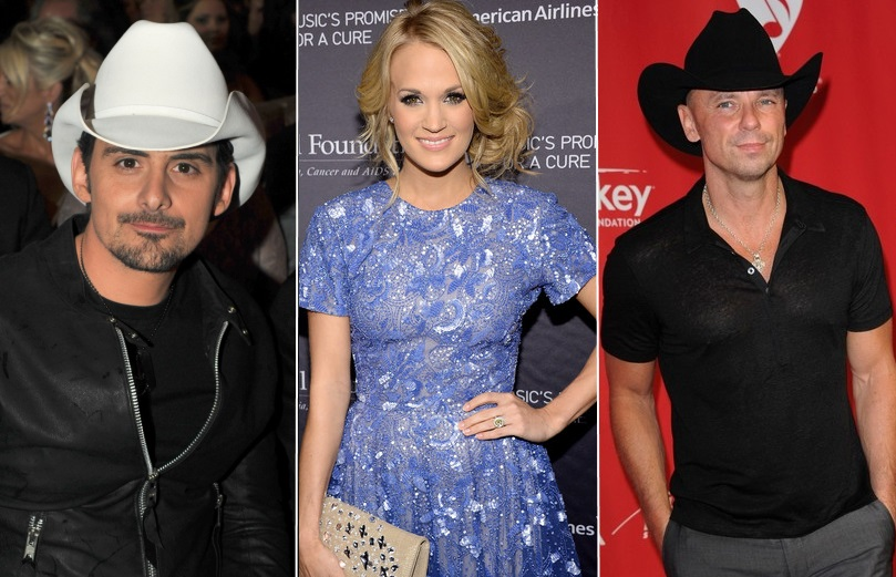 Brad paisley carrie underwood kenny chesney more share for How many kids does brad paisley have