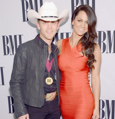 Justin Moore and wife Kate