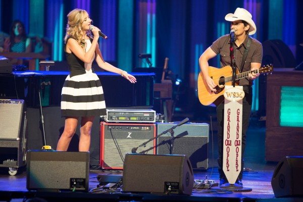 Brad Paisley Invites Sarah Darling to Opry, Perform 'Whiskey Lullaby'