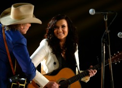 Watch Brandy Clark and Dwight Yoakam Perform 'Hold My Hand' At The GRAMMYs