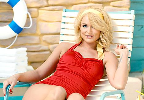 Get the Look: Miranda Lambert's Retro Red Swimsuit