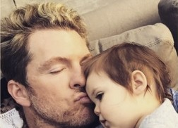 Joe Don Rooney Steals Kisses From Baby Devon