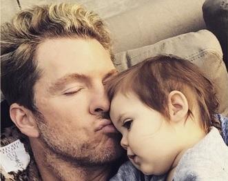 Joe Don Rooney Steals Kisses From Baby Devon