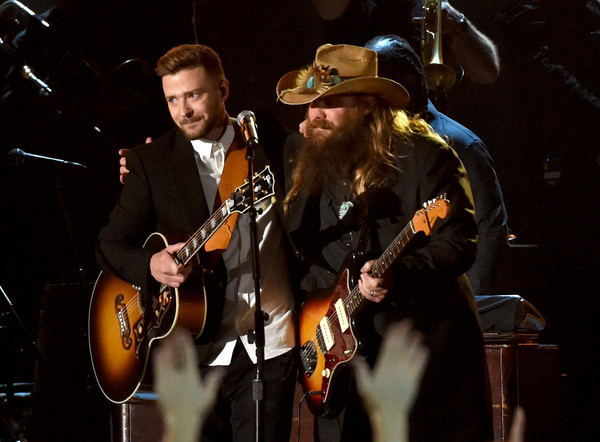 watch chris stapleton and justin timberlake 39 s cma awards