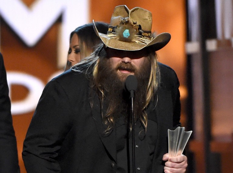 Chris Stapleton Wins Male Vocalist of the Year at 2016 ACM Awards