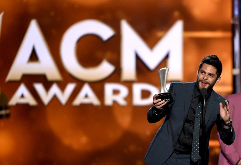 Thomas Rhett's 'Die A Happy Man' Claims Single Record of the Year at ACM Awards
