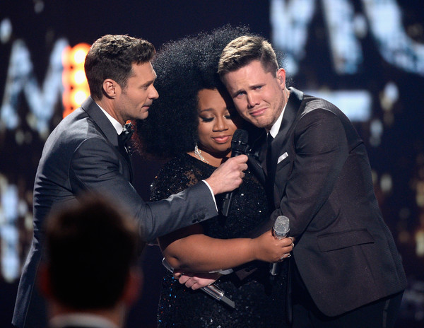 Photo L-R: Ryan Seacrest, LaPorsha Renae, Trent Harmon, Photo via Getty Images