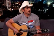Brad Paisley Talks Working with Demi Lovato, Performs 'Without A Fight' on 'Jimmy Kimmel Live!'