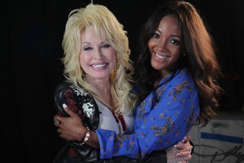 Dolly parton surprises mickey guyton during interview sounds like dolly parton surprises mickey guyton during interview publicscrutiny Choice Image