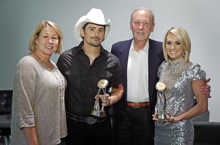 Brad Paisley, Carrie Underwood Receive CMA Chairman's Award