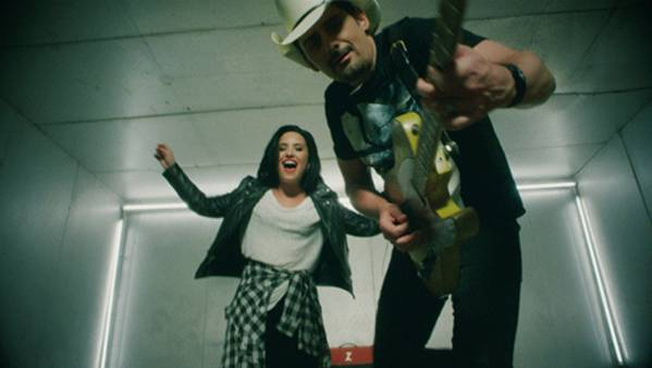 Brad Paisley Premieres New Music Video with Demi Lovato for 'Without a Fight'