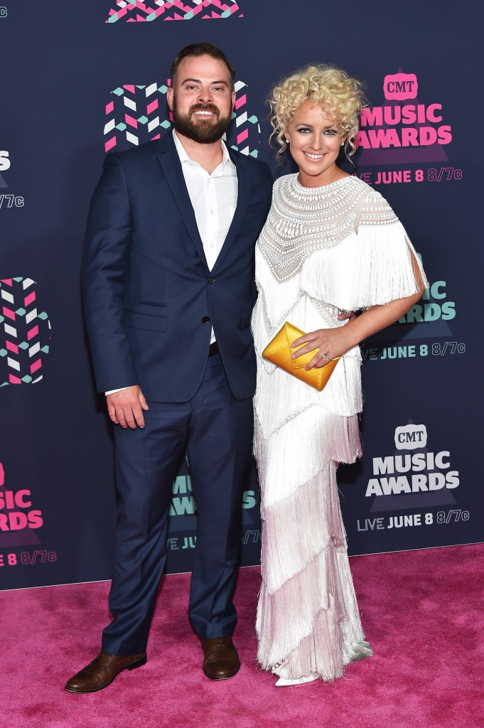 Cam and fiance Adam Weaver; Photo by Mike Coppola/Getty Images