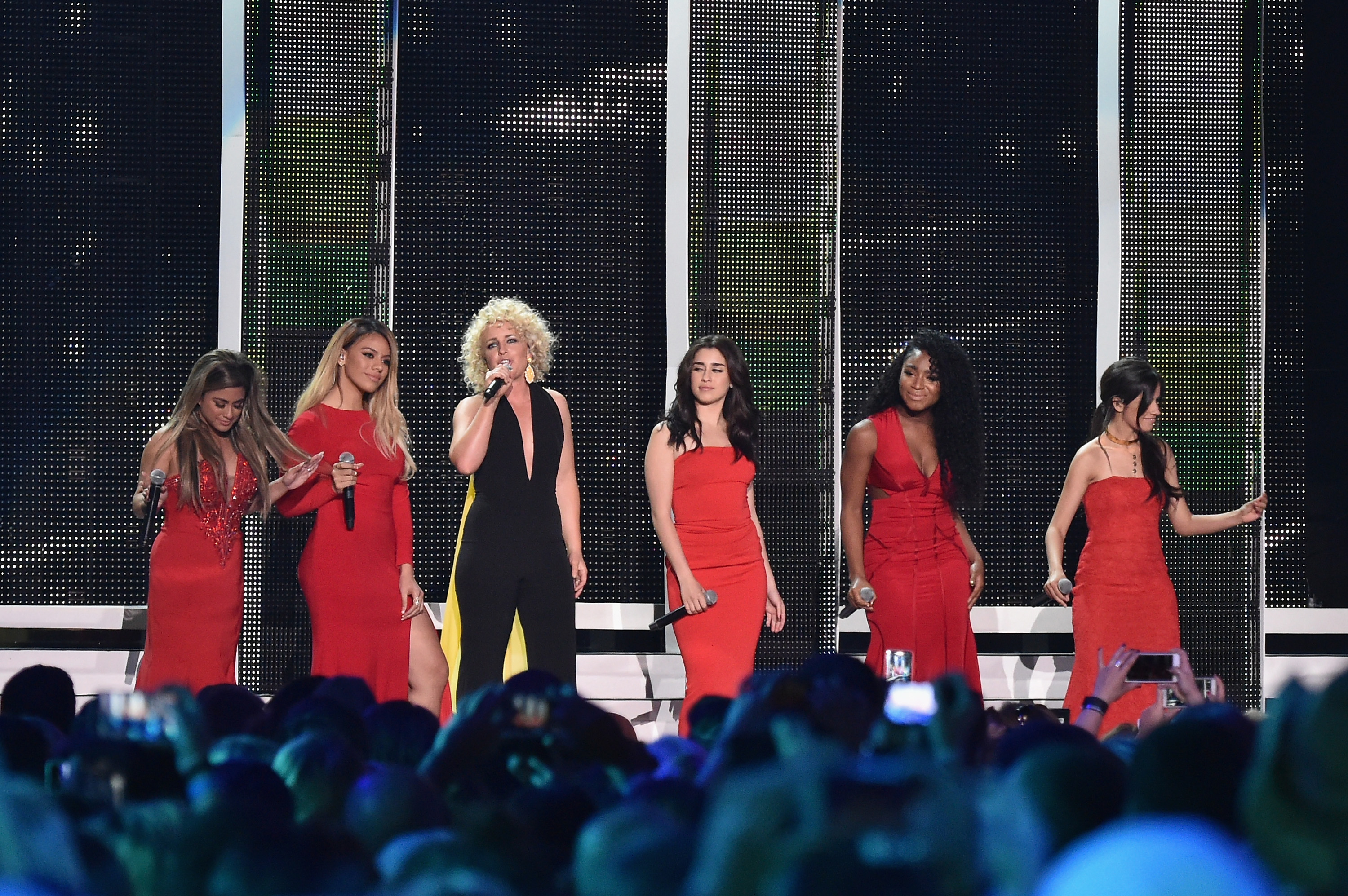 Cam and Fifth Harmony Slay the CMT Stage With Their Mash-Up Of 'Mayday' and 'Work From Home'