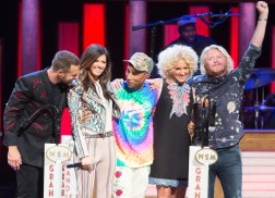 Pharrell Surprises Grand Ole Opry Crowd During Little Big Town Performance