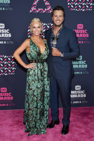Luke Bryan and his wife Caroline; Photo by Getty Images