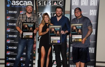 Chris Young and Cassadee Pope Celebrate No. 1 Song