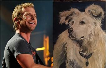 Fan Paints Portrait of Dierks Bentley's Late Dog