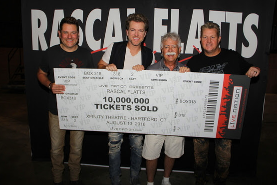 Rascal Flatts Revels in 10 Million Total Tickets Sold in Career