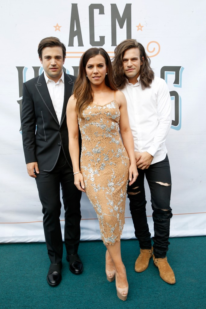 (L-R) Singers Neil Perry, Kimberly Perry, and Reid Perry of The Band Perry; Photo by Terry Wyatt/Getty Images for ACM