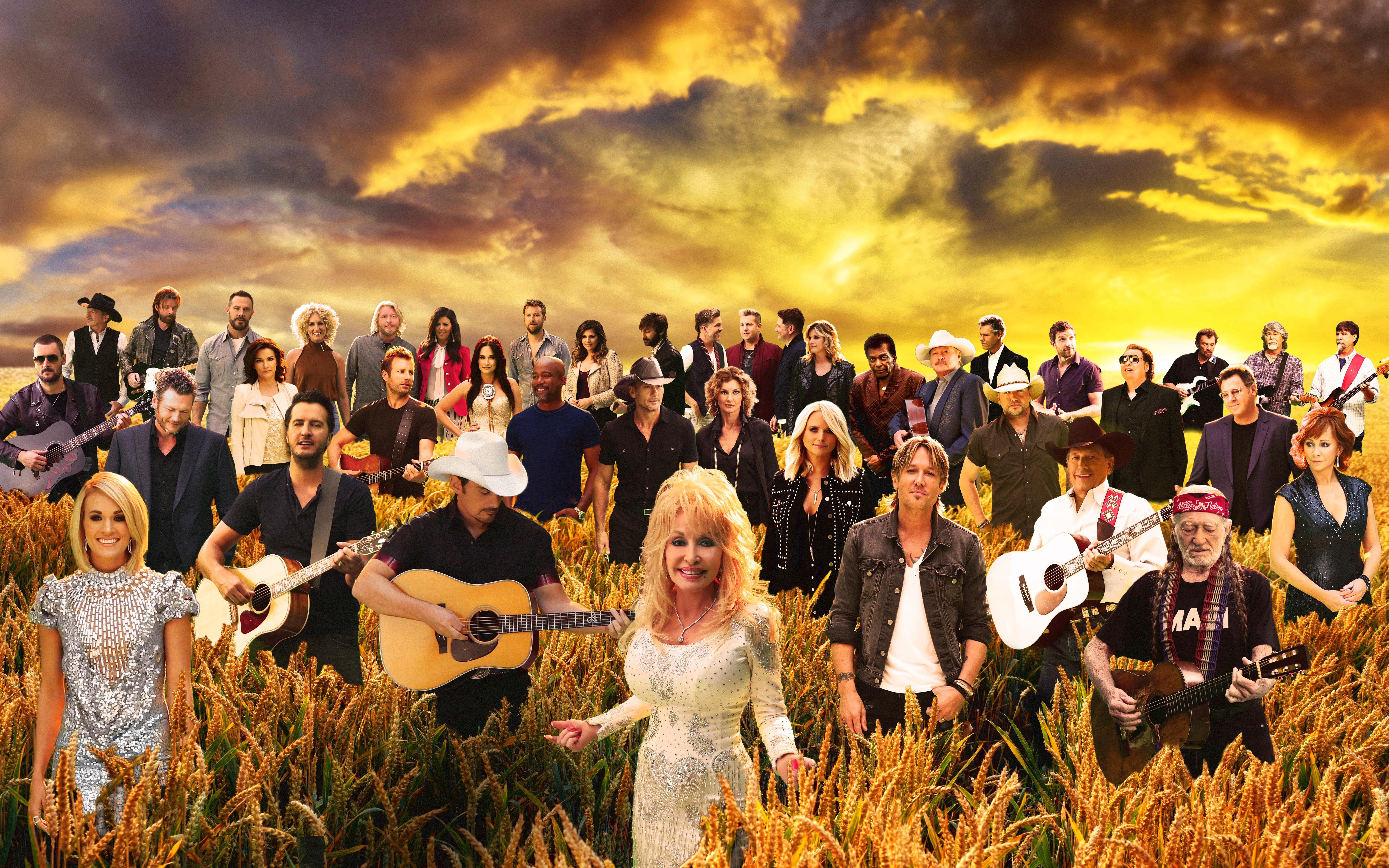 Country Music Stars Wallpaper: Watch The 'Forever Country' Music Video