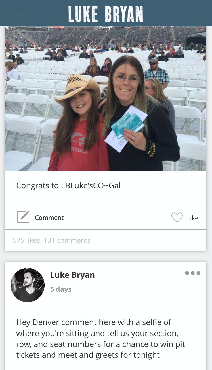 Five cool features on the luke bryan app sounds like nashville luke bryan app kristyandbryce Image collections