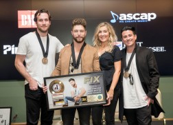 Chris Lane and Co. Honored at Party for First No. 1 Single, 'Fix'