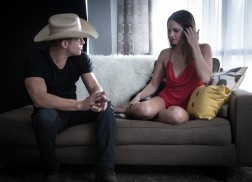 Dustin Lynch Taunted by Sultry Fantasy in 'Seein' Red' Music Video