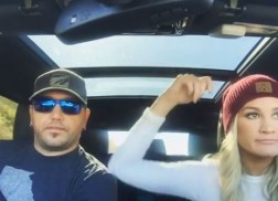 Jason Aldean and Wife Go For Round Two of Carpool Karaoke