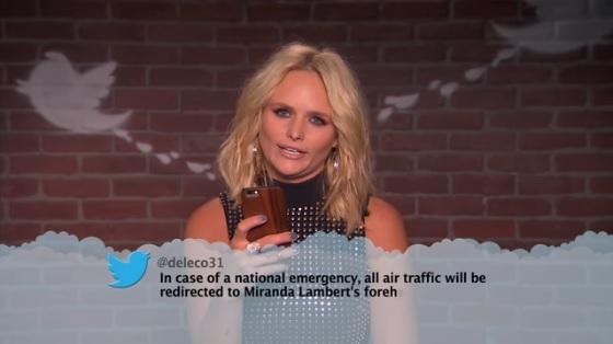 Miranda Lambert, Florida Georgia Line & More Read Mean Tweets on 'Jimmy Kimmel Live'