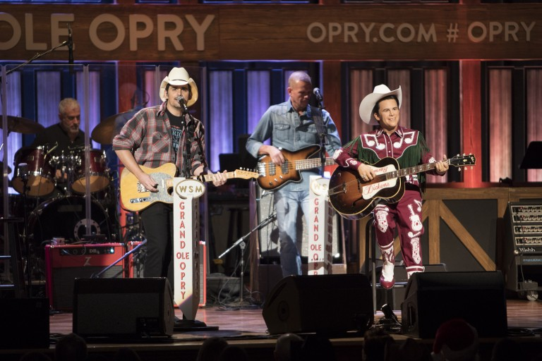 Brad Paisley Reveals Little Jimmy Dickens Wax Figure at Grand Ole Opry Show