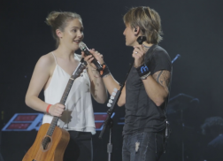 Keith Urban Works as 'Guitar Tech' For Young Fan During Adelaide Show
