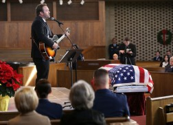 Lee Brice Pays Tribute to U.S. Air Force Maj. Troy Gilbert at Arlington National Cemetery