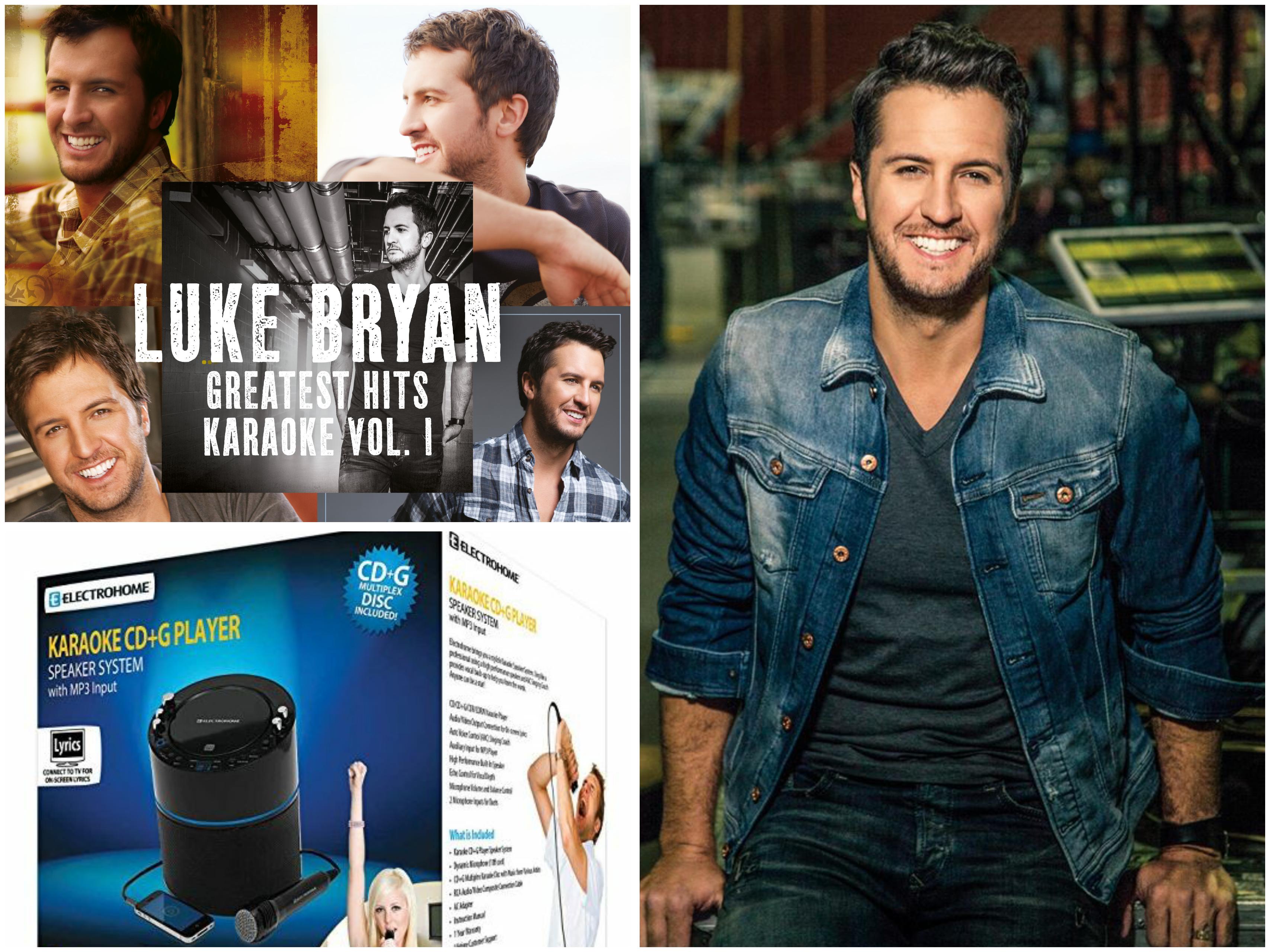 WIN a Karaoke Machine Speaker System + Luke Bryan Greatest Hits Karaoke Vol. 1
