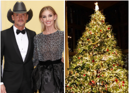 Country Stars Show Off Their Festive Christmas Trees