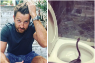 Brett Eldredge Comes Across Toilet Surprise on Vacation
