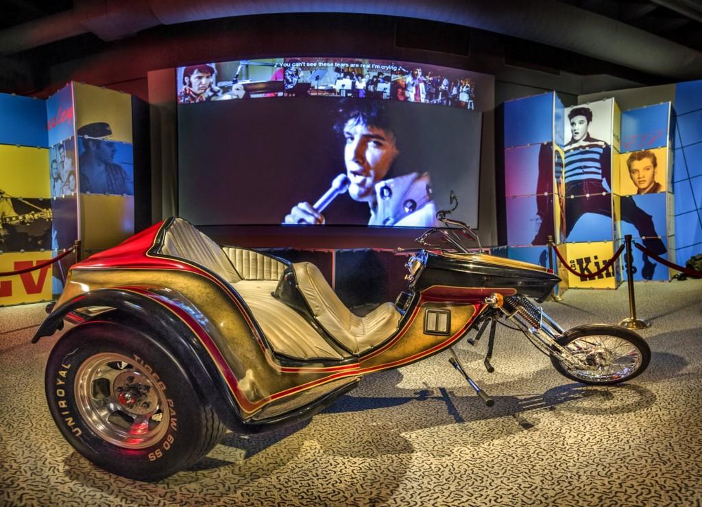 Elvis Presley's custom SuperTrike motorcycle; Photo courtesy Rock & Roll Hall of Fame