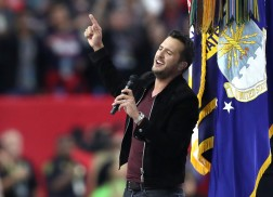 Re-Live Luke Bryan's Performance of the National Anthem at Super Bowl LI