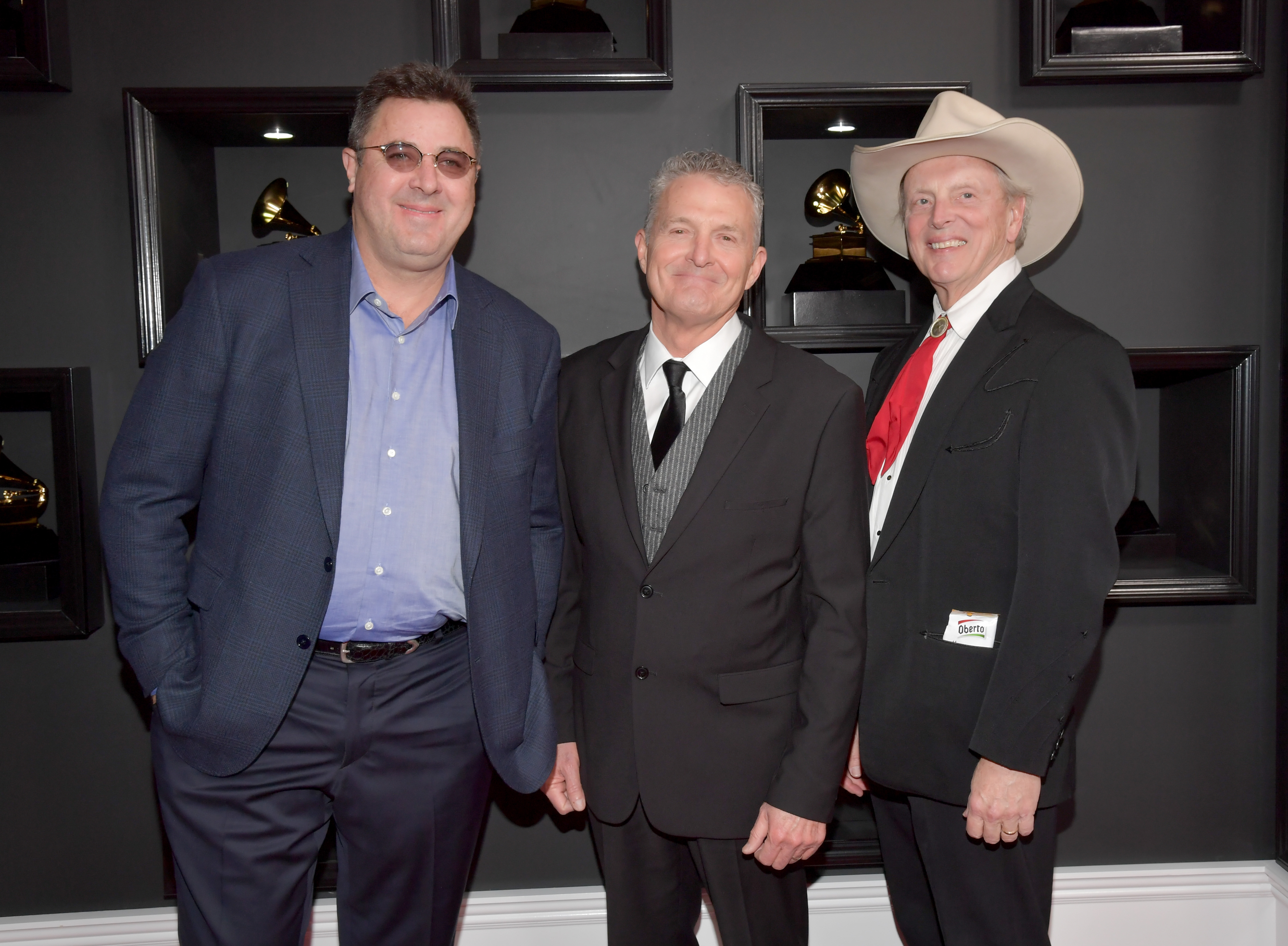 Vince Gill with Billy Thomas and Douglas B. Green of music group The Time Jumpers attend The 59th GRAMMY Awards; Photo by Lester Cohen/WireImage