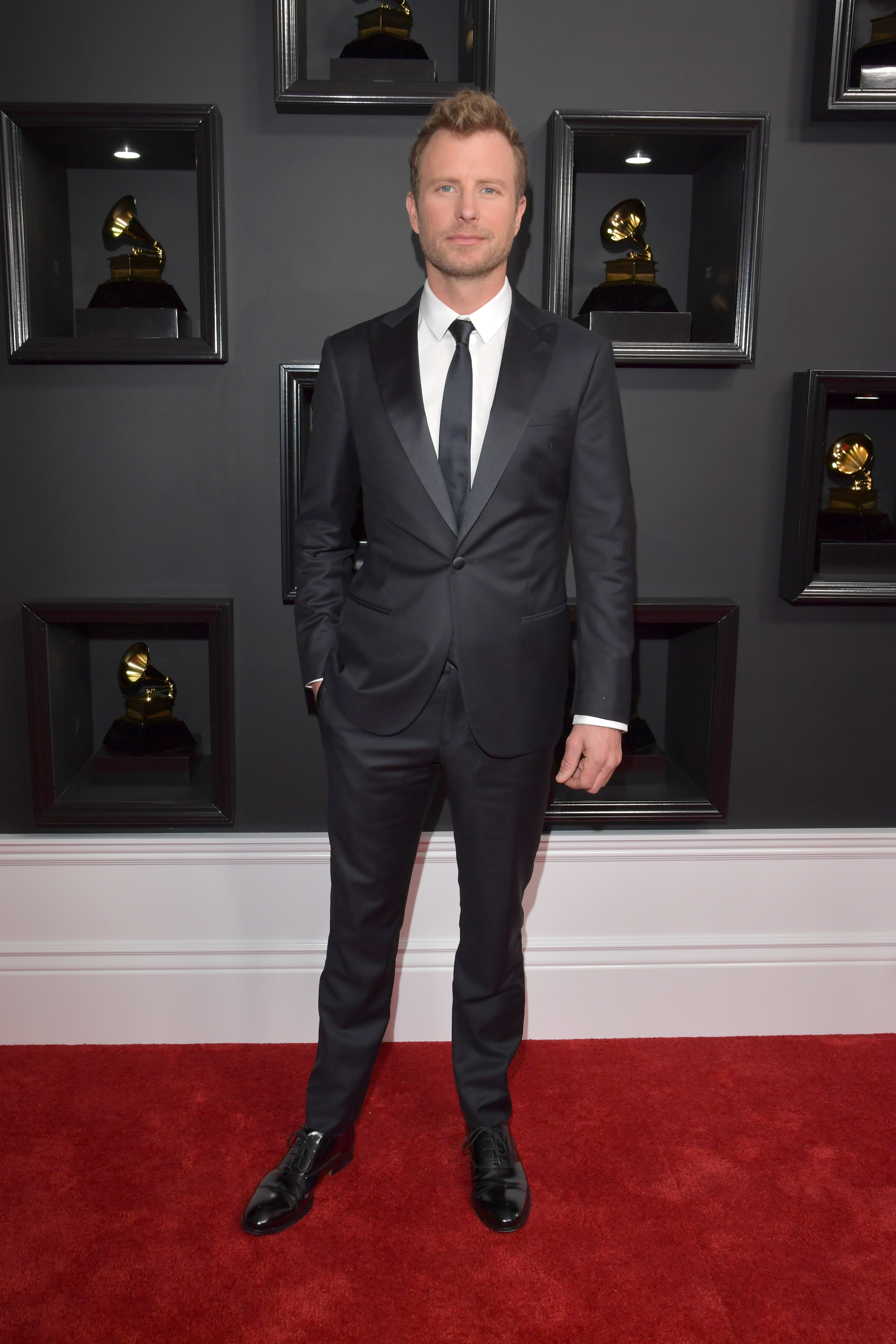 Dierks Bentley attends The 59th GRAMMY Awards; Photo by Lester Cohen/WireImage