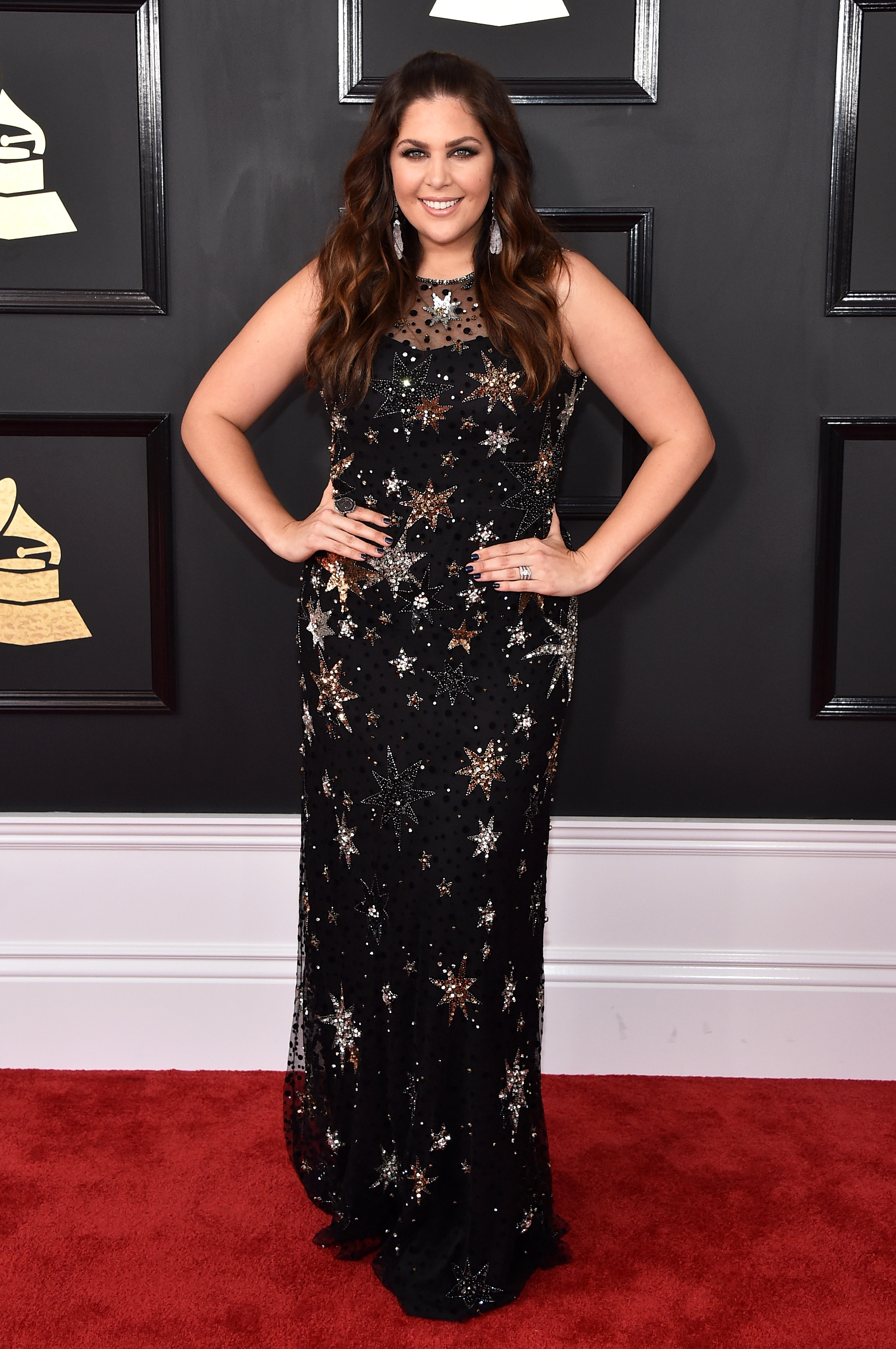 Hillary Scott attends The 59th GRAMMY Awards; Photo by John Shearer/WireImage