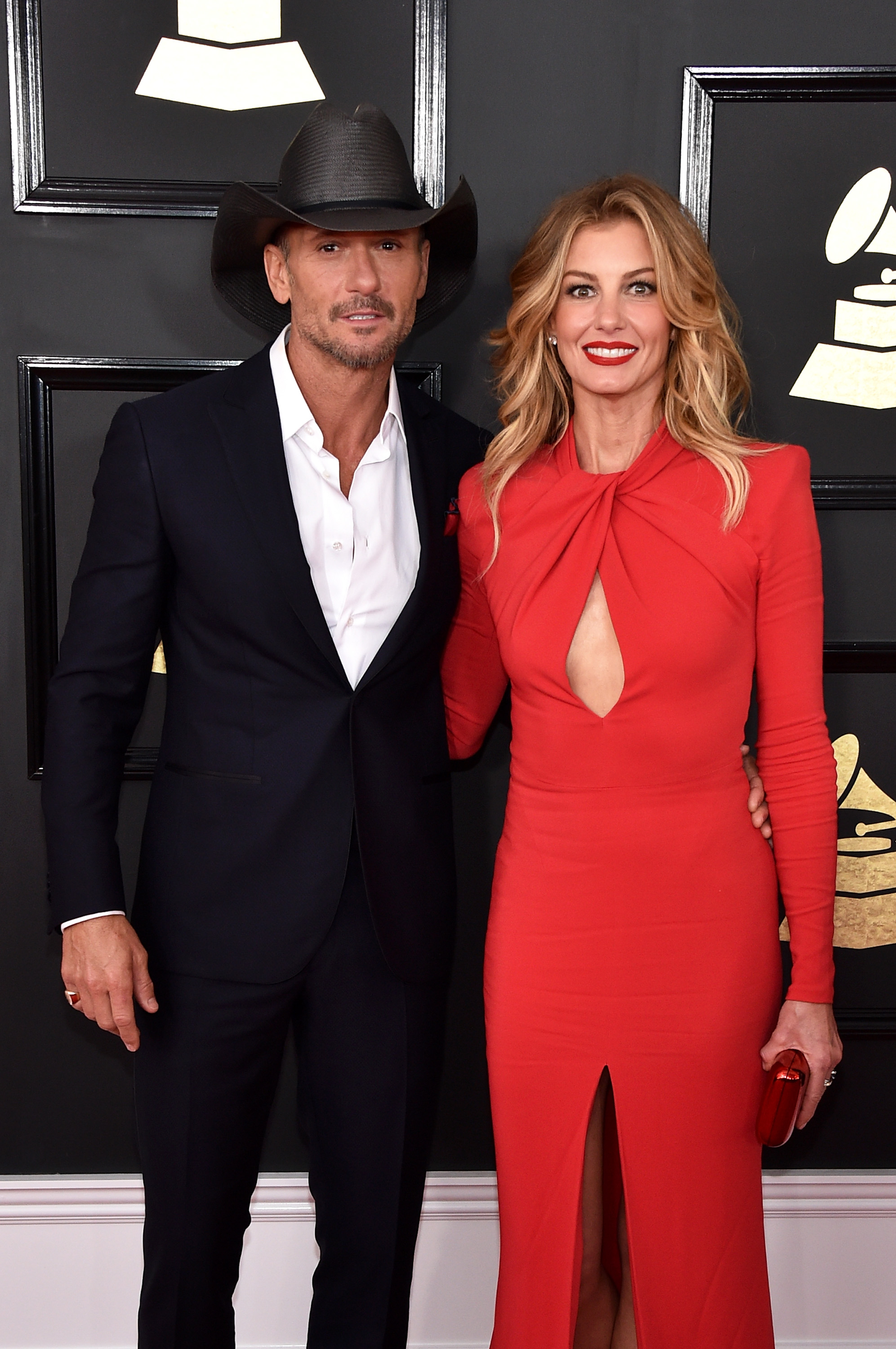 Tim McGraw and Faith Hill attend The 59th GRAMMY Awards; Photo by John Shearer/WireImage